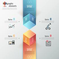 Moderne Infografiken Optionen Banner.