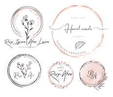 Diseño de logotipo de corona de hoja dibujada a mano