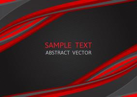 Color rojo y negro, fondo de vector abstracto con espacio de copia, diseño gráfico moderno