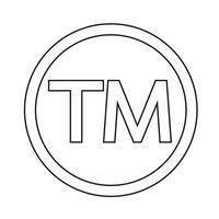 Illustration vectorielle symbole de marque icône