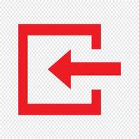 Accedi icona illustrazione vettoriale