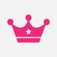 Crown icon vector illustration