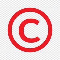 copyright symbol ikon vektor illustration