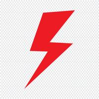 Lightning icon Vector Illustration