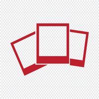 Foto icon ilustração vetorial