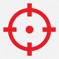 Zielsymbol Vektor-Illustration