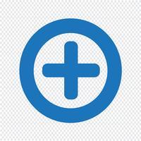 De plus icône illustration vectorielle