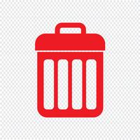 trash bin icon vector illustration