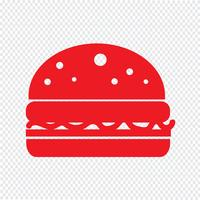 Burger ikon vektor illustration