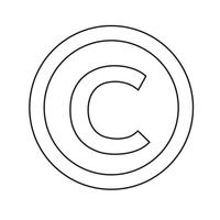 copyright symbole icône illustration vectorielle