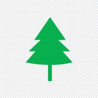 Kerstboom pictogram vectorillustratie