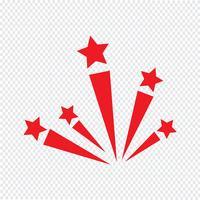 ilustração em vetor ícone fogo de artifício