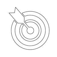 Doel pictogram vectorillustratie