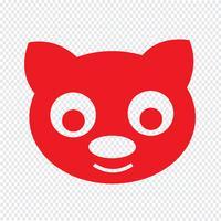 schattige kat pictogram vectorillustratie