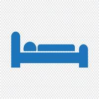 Ilustración de vector de icono de sueño de hotel