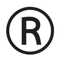 Ilustração em vetor ícone marca registrada