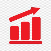 Pictograph graph icon Vector Illustration