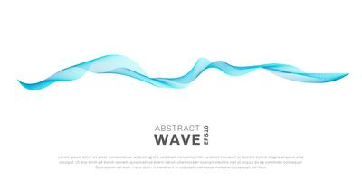 Abstract wave lines blue color flowing isolated on white background. You can use for design elements or separator in concept of modern, technology, music, science