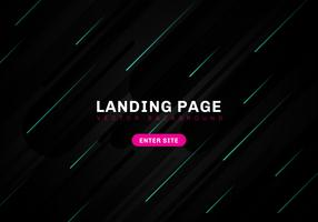Abstract minimal geometric black color background technology style. template website landing page. Dynamic blue elements composition