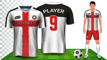Soccer Jersey, Sport Shirt or Football Kit Uniform Presentation Mockup Template.