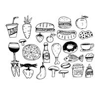 dessiner main icône alimentaire