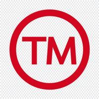 Varumärkes Symbol Symbol Vektor Illustration