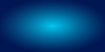 Abstract radial dots pattern halftone on blue gradient background. Technology digital concept futuristic neon lighting.
