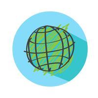 Globe jorden vektor ikon