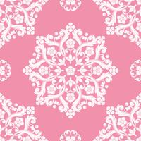 Seamless damask pattern. Pink texture vector