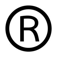 Icône de marque déposée Illustration vectorielle