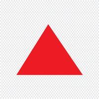 Icône de triangle Illustration vectorielle
