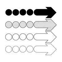 Vector icono de flecha ilustración