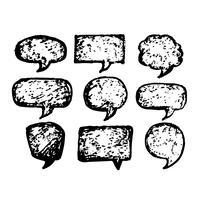 Ícone de mão desenhada discurso bolha