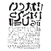 Pfeil-Symbole Vektor-Illustration
