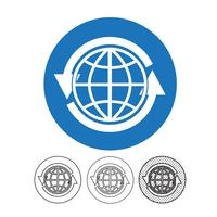 Globe vector pictogram