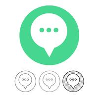 tekstballon chat vector pictogram