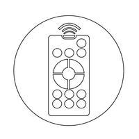 pictogram voor afstandsbediening