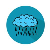 Vector wolk pictogram