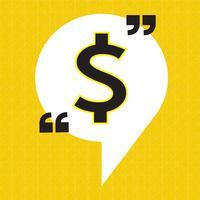Icône d'argent signe dollar