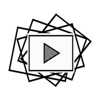Video stream play icon vector
