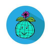 Globe earth vector icon