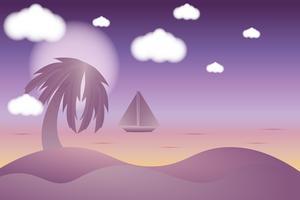 Alegría de vacaciones en vacaciones de verano y fondo de playa