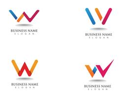 W logo business and symbols template