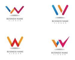 Modèle de logo et de commerce W logo