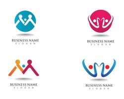 Adoption logo and community care template vector icon