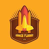 3d Flat Space Badge
