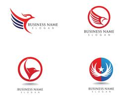 Falcon Eagle Bird Logo plantilla vector iconos ala