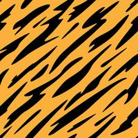 Abstract Black and Orange Stripes Seamless Repeating Pattern  vector