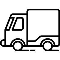 Vecteur d'icône de camion