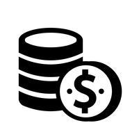 Münzen Icon Vektor